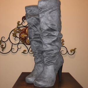 Michael Antonio Gray Tall Boots Sz 6.5